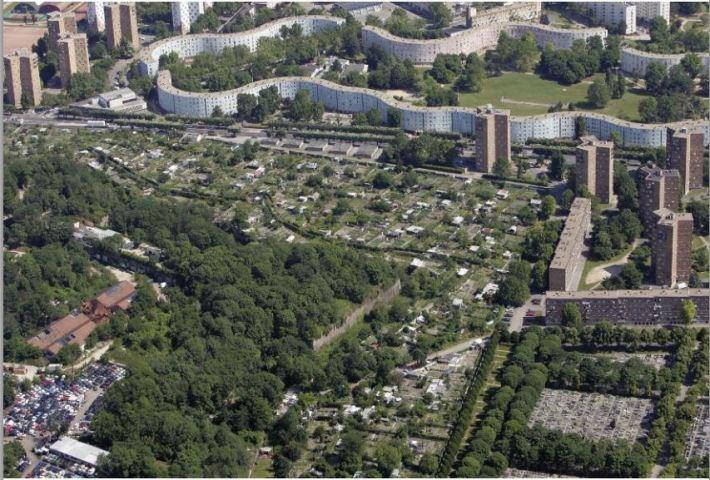 Jardin des vertus-vue aérienne ensemble
