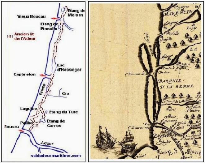 carte déplacement Adour